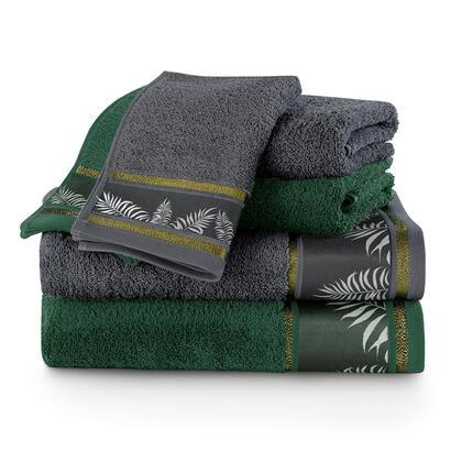 Sada ručníků a osušek PAVOS smaragdová 6 ks