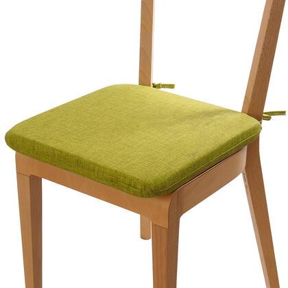 Podsedák s pratelným povlakem zelená, sada 4 kusů