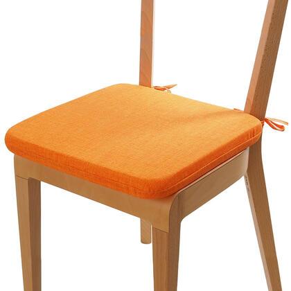 Podsedák s pratelným povlakem oranžová, sada 4 kusů
