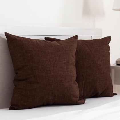 Dekorační polštářek BESSY 45 x 45 cm hnědá, sada 2 ks