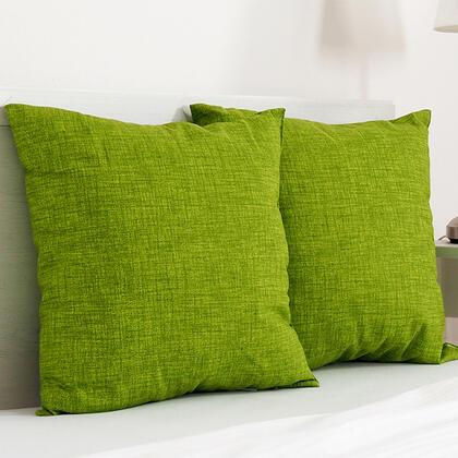 Dekorační polštářek BESSY 45 x 45 cm zelená, sada 2 ks