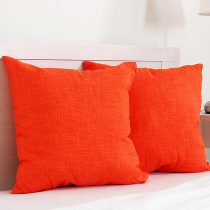 Dekorační polštářek BESSY 45 x 45 cm oranžová, sada 2 ks