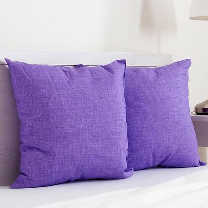 Dekorační polštářek BESSY 45 x 45 cm fialová, sada 2 ks