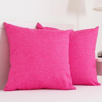 Dekorační polštářek BESSY 45 x 45 cm růžová, sada 2 ks