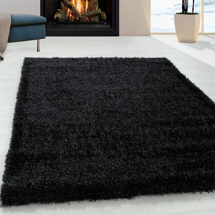 Kusový koberec SHAGGY Brilliant černý