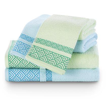 Sada ručníků a osušek VOLIE modrá a zelená 6 ks