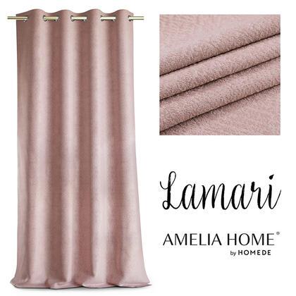 Závěs BLACKOUT LAMARI růžový 140 x 250 cm
