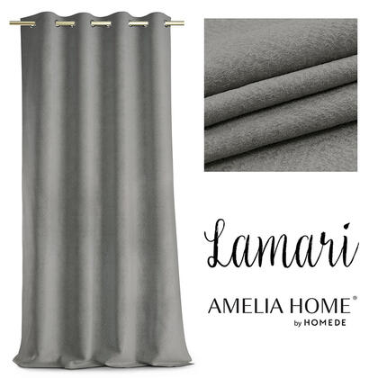Závěs BLACKOUT LAMARI šedý 140 x 250 cm