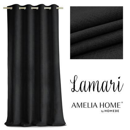 Závěs BLACKOUT LAMARI černý  140 x 250 cm, 1 ks
