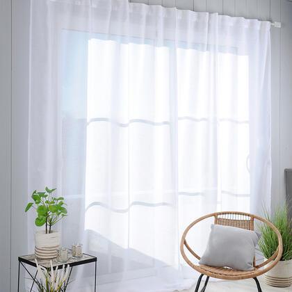Voálová záclona na francouzské okno MADRID XXL 290 x 260 cm
