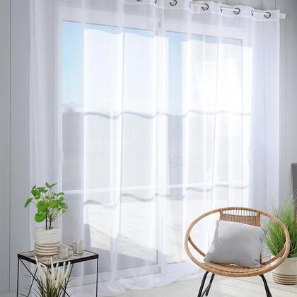 Voálová záclona na francouzské okno MONNA XXL 300 x 280 cm