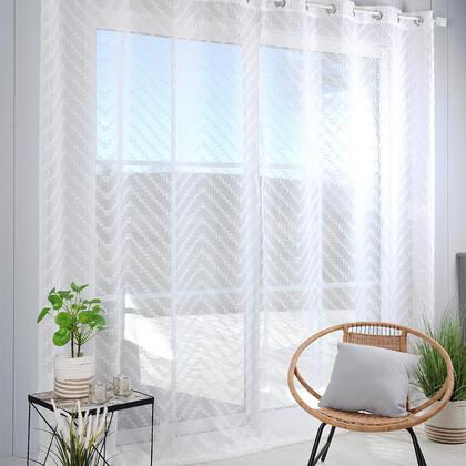 Voálová záclona na francouzské okno DESIGN XXL 290 x 280 cm