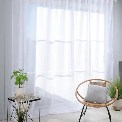 Voálová záclona na francouzské okno MADRID XXL 290 x 280 cm