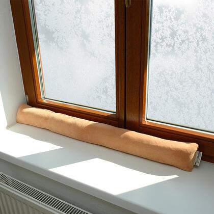 Polštář proti průvanu meruňková 90 x 10 cm