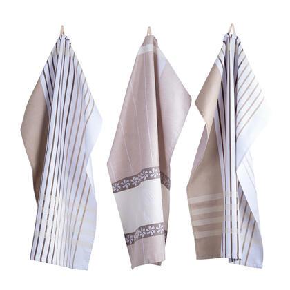 Utěrky z egyptské bavlny JITKA béžová 50 x 70 cm 3 ks
