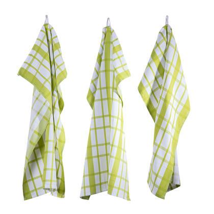 Utěrky z egyptské bavlny  MÁJA zelená 50 x 70 cm 3 ks
