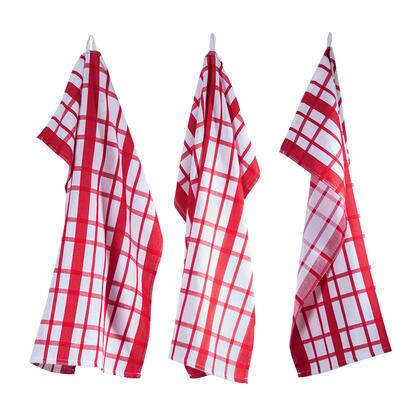 Utěrky z egyptské bavlny  MÁJA červená 50 x 70 cm 3 ks