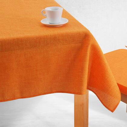 Jednobarevný ubrus BESSY oranžový, stolní 140 x 180 cm