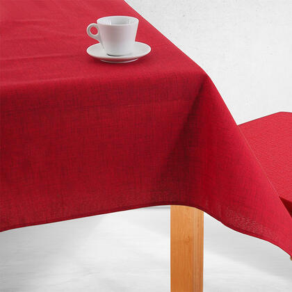 Jednobarevný ubrus BESSY červený, stolní 140 x 180 cm