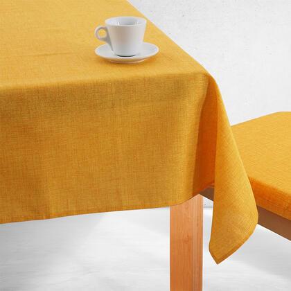 Jednobarevný ubrus BESSY žlutý, stolní 140 x 180 cm