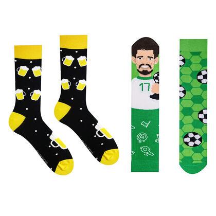 Veselé ponožky PIVKO + FOTBALISTA sada 2 párů