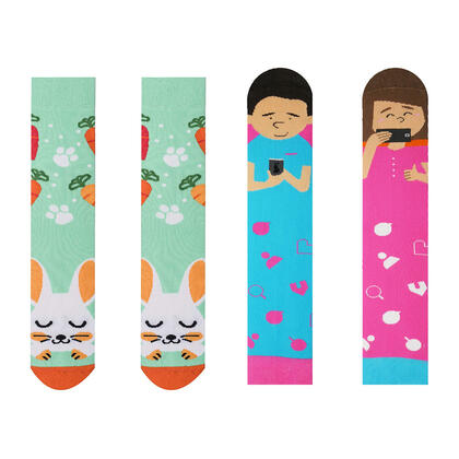 Veselé ponožky INSTAGRAM + ZAJÍC sada 2 párů