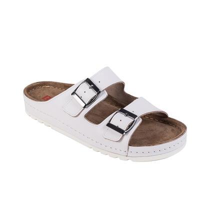Dámské zdravotní pantofle MEMORY bílé