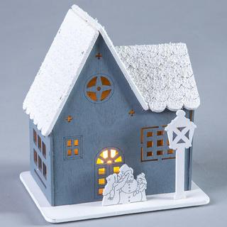 Dřevěný domeček s LED světýlkem