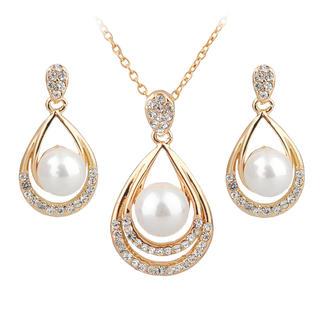 Náhrdelník a náušnice s perlou