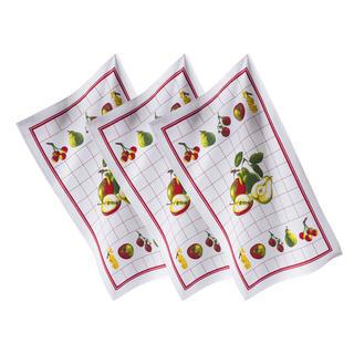Bavlněné utěrky OVOCE 3 ks 45 x 70 cm
