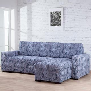 Bielastické potahy ASTRATO šedé, sedačka s otomanem vpravo (š. 170 - 200 cm)