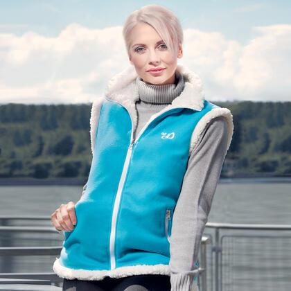 Dámská vesta Sherpa modrá