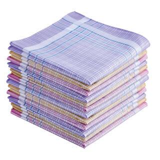 Dámské bavlněné kapesníky 12 kusů