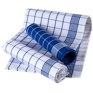 Kuchyňské utěrky z egyptské bavlny KÁRO modré 3 kusy