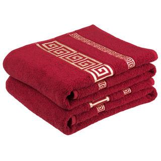 Bavlněné froté ručníky Atény, bordó