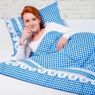 Souprava letní přikrývky 140 x 200 cm a polštáře 40 x 60 cm MATYLDA modrá