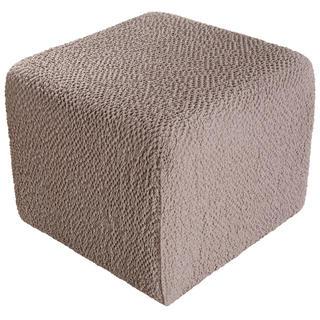 Bielastické potahy BUKLÉ oříšková, taburet (40 x 40 x 40 cm)