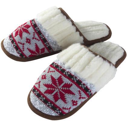 Dámské pantofle z ovčí vlny červené