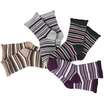 Hřejivé froté ponožky Proužky 5 párů