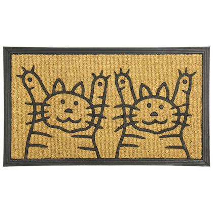 Kokosová rohožka DVĚ KOČKY  40 x 70 cm