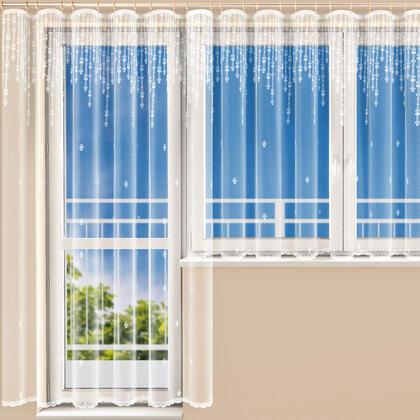 Hotová žakárová záclona RIA - balkonový komplet