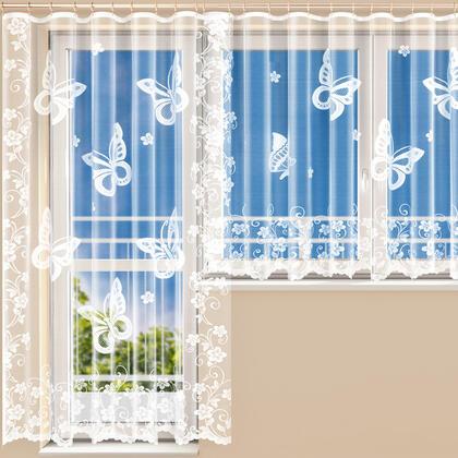 Hotová žakárová záclona JESSICA - balkonový komplet