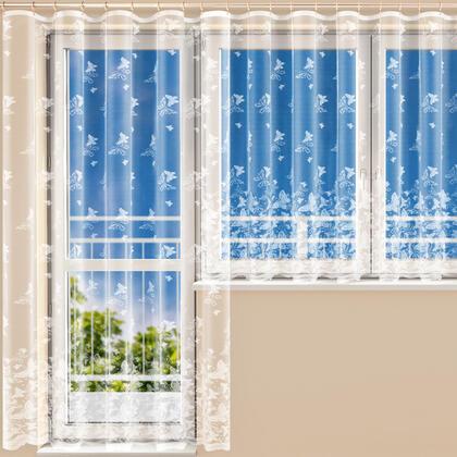 Hotová žakárová záclona AMÁLIE - balkonový komplet