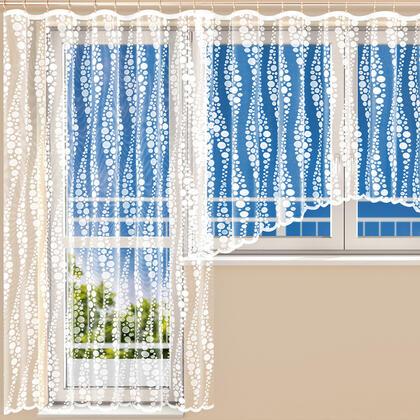 Hotová žakárová záclona HARMONY  - balkonový set