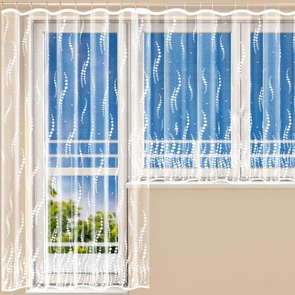 Hotová žakárová záclona NAOMI  - balkonový set
