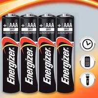 Alkalické baterie Energizer 4x AAA - 1/2