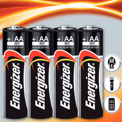 Alkalické baterie Energizer 4x AA  - 1