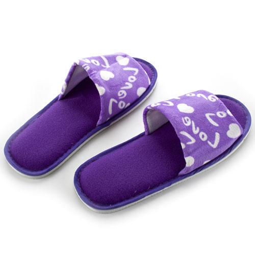 Pantofle pro hosty i návštěvy - fialové