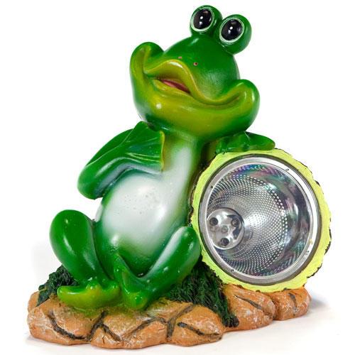 Solární zahradní dekorace - žabák