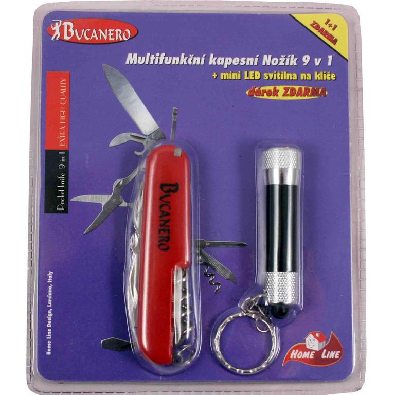 Multifunkční nožík 9 v 1 + LED svítilna zdarma